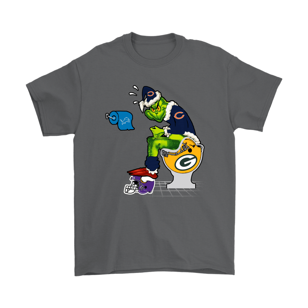 The Grinch Chicago Bears Shit On Other Teams Christmas Shirts 2
