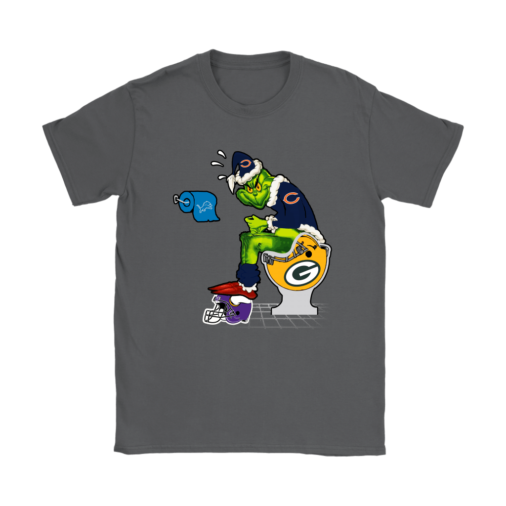 The Grinch Chicago Bears Shit On Other Teams Christmas Shirts 9