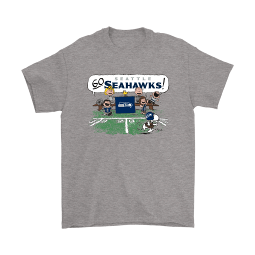 The Peanuts Cheering Go Snoopy Seattle Seahawks Shirts 1