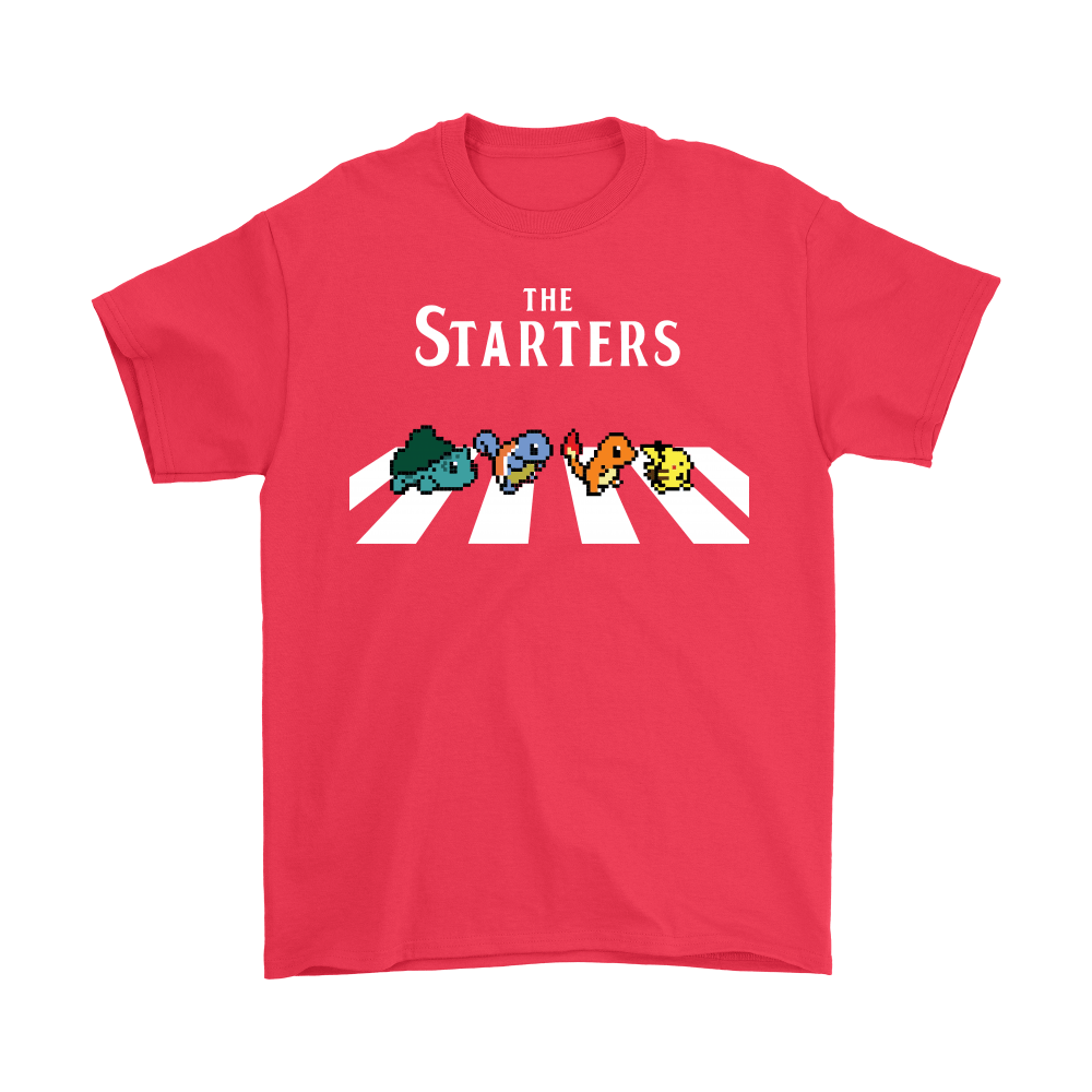 The Starters Abbey Road Pokemon Shirts 5