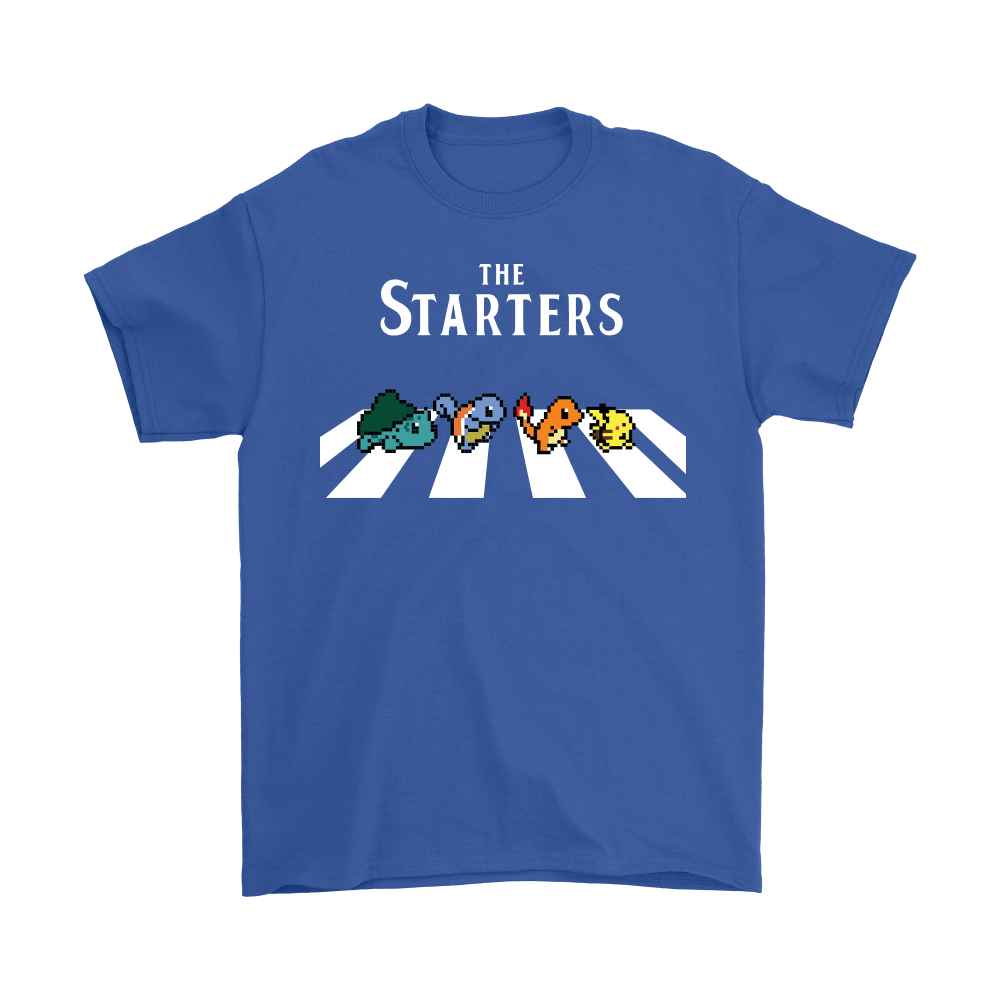 The Starters Abbey Road Pokemon Shirts 6