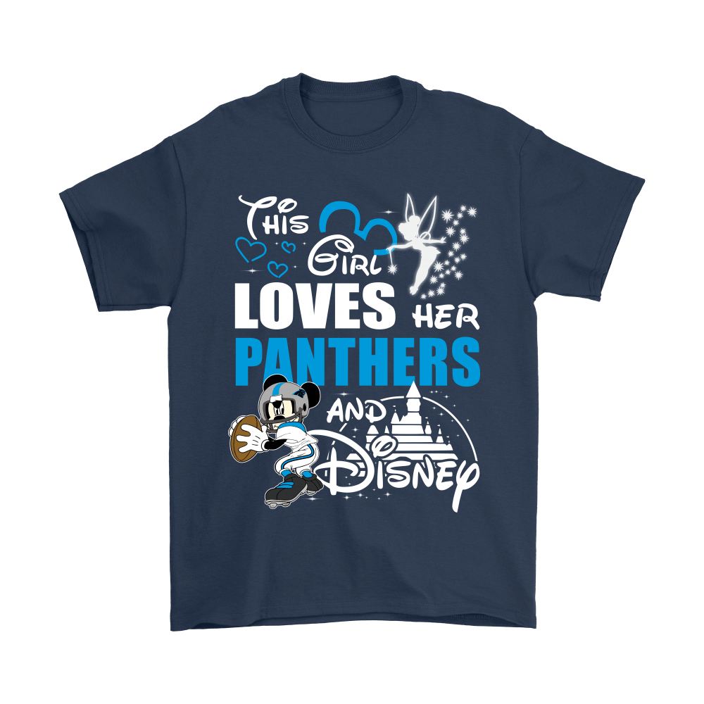 This Girl Loves Her Carolina Panthers And Mickey Disney Shirts 3