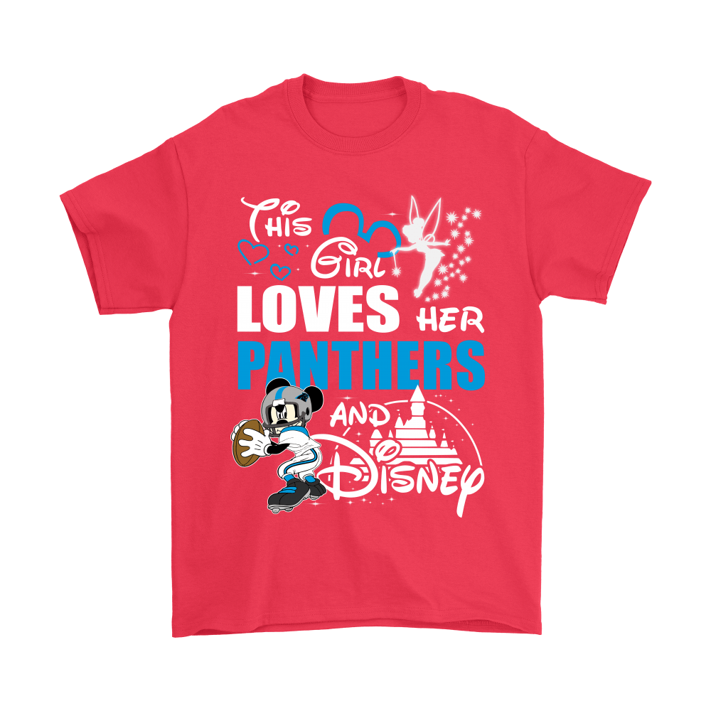 This Girl Loves Her Carolina Panthers And Mickey Disney Shirts 5