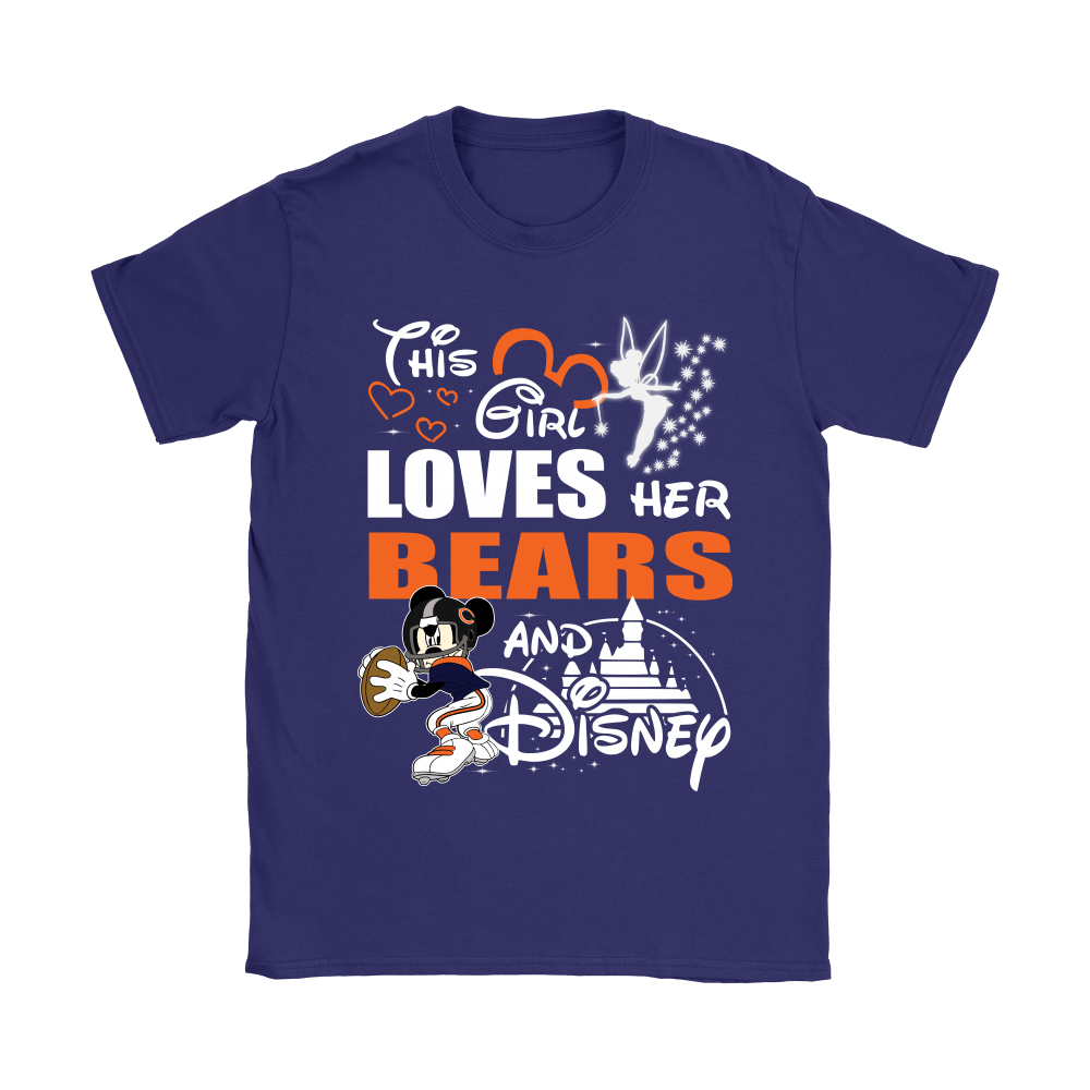 This Girl Loves Her Chicago Bears And Mickey Disney Shirts 21