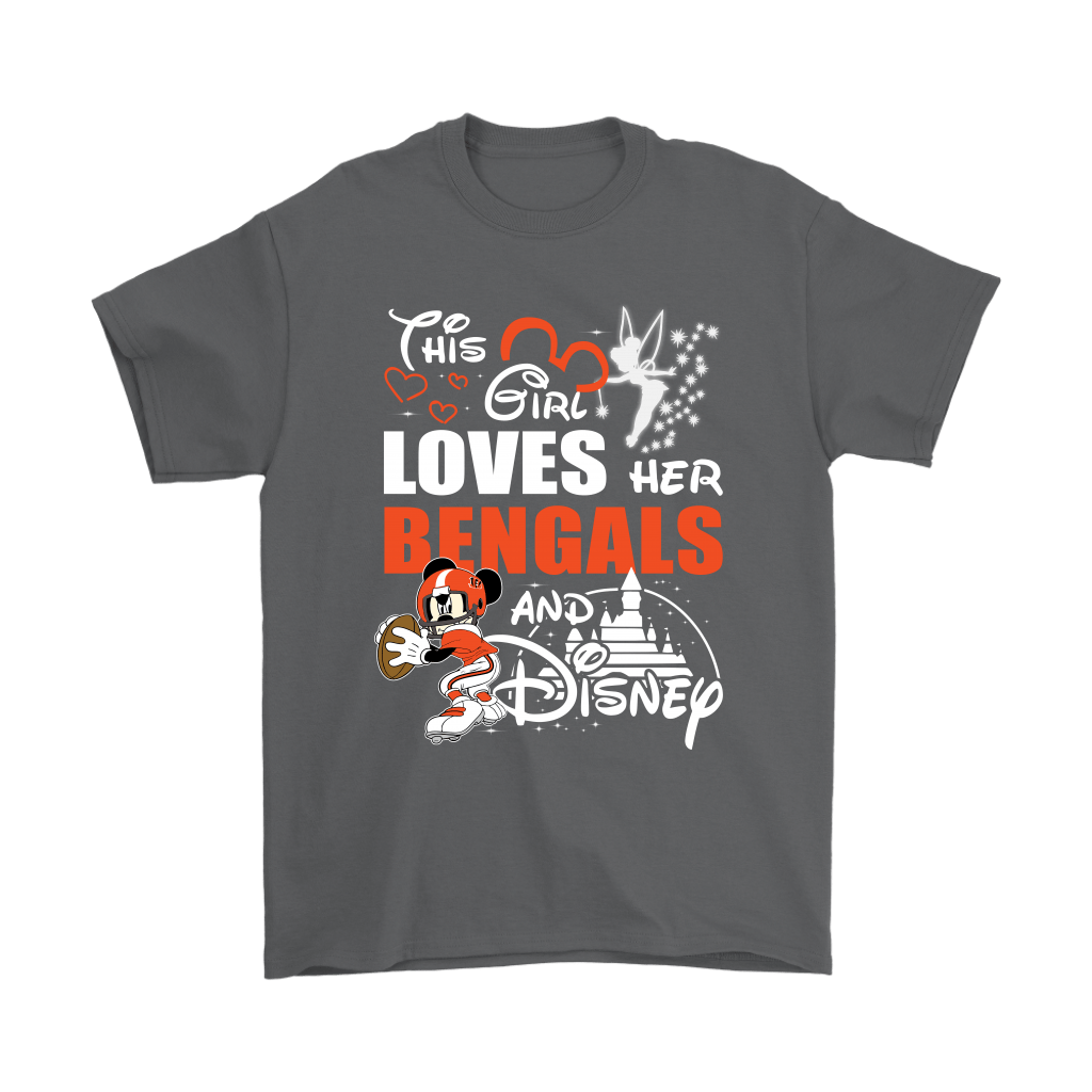 This Girl Loves Her Cincinnati Bengals And Mickey Disney Shirts 2