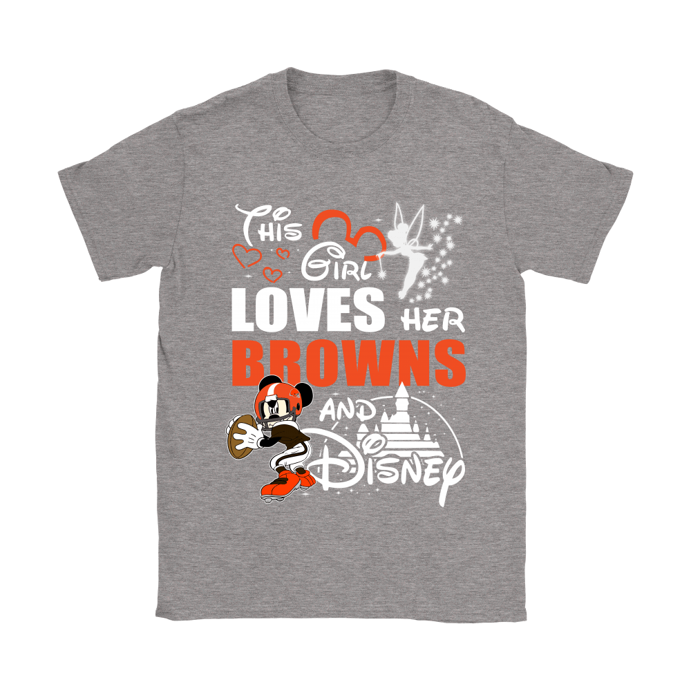 This Girl Loves Her Cleveland Browns And Mickey Disney Shirts 12