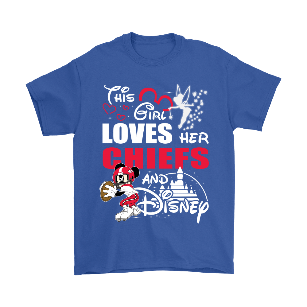 This Girl Loves Her Kansas City Chiefs And Mickey Disney Shirts 5