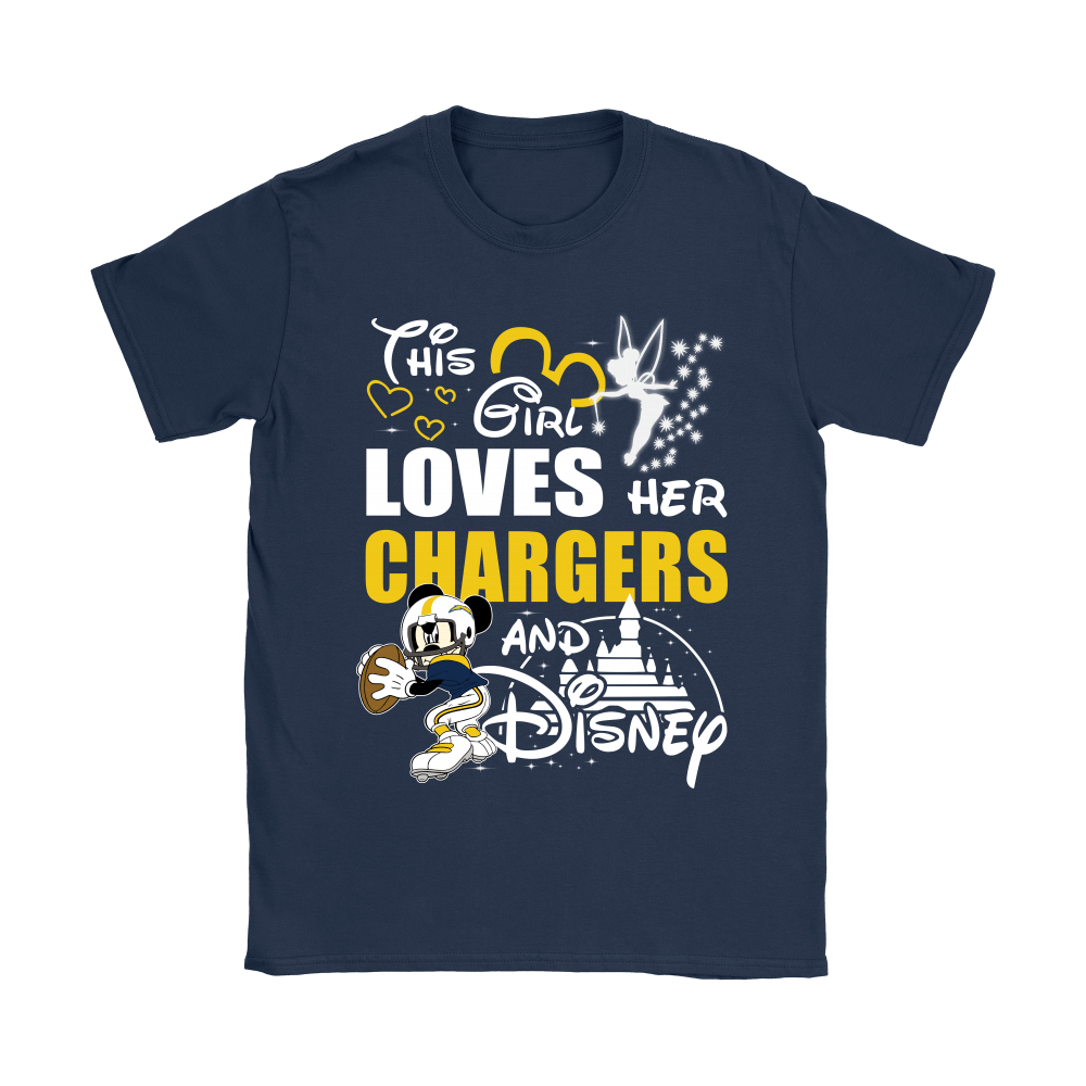 This Girl Loves Her Los Angeles Chargers And Mickey Disney Shirts 10