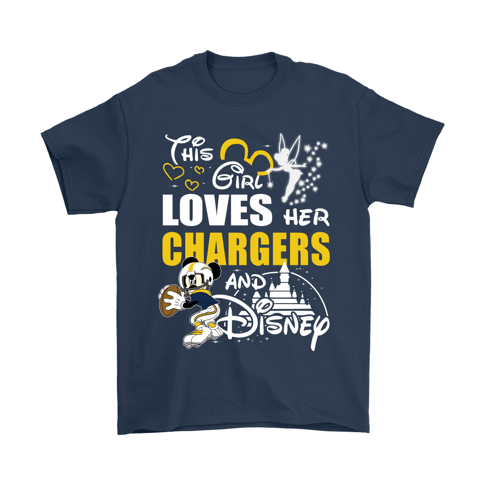 This Girl Loves Her Los Angeles Chargers And Mickey Disney Shirts 3