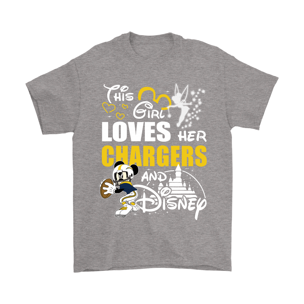 This Girl Loves Her Los Angeles Chargers And Mickey Disney Shirts 7