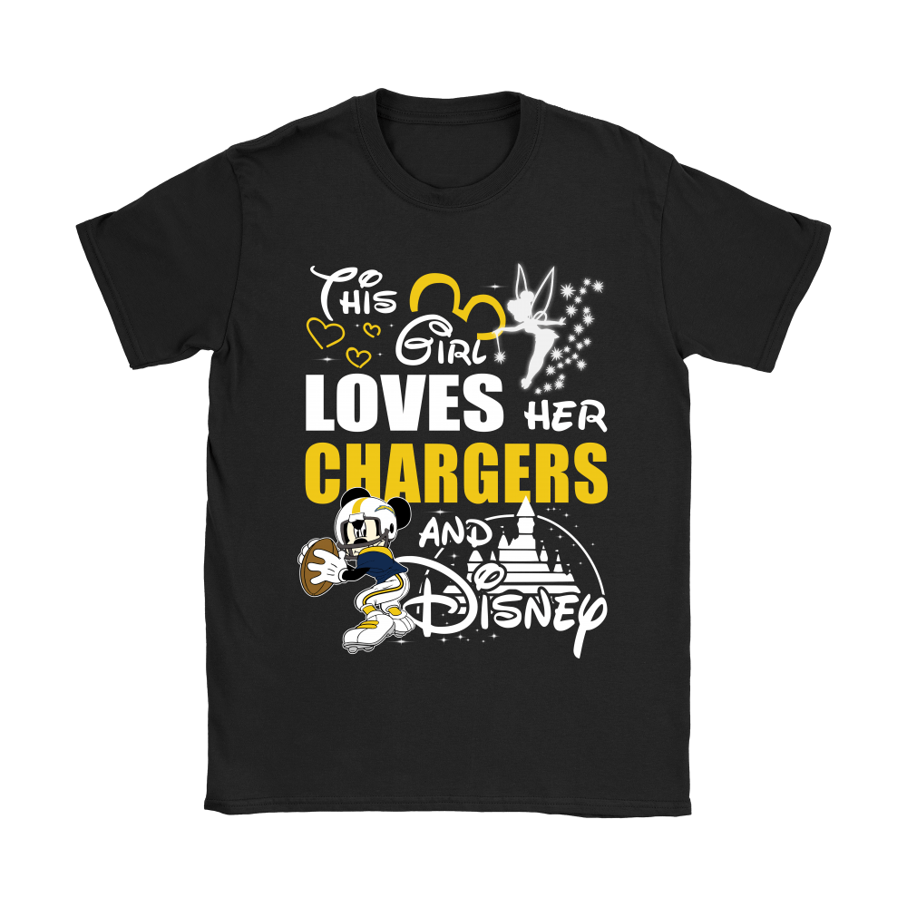 This Girl Loves Her Los Angeles Chargers And Mickey Disney Shirts 8