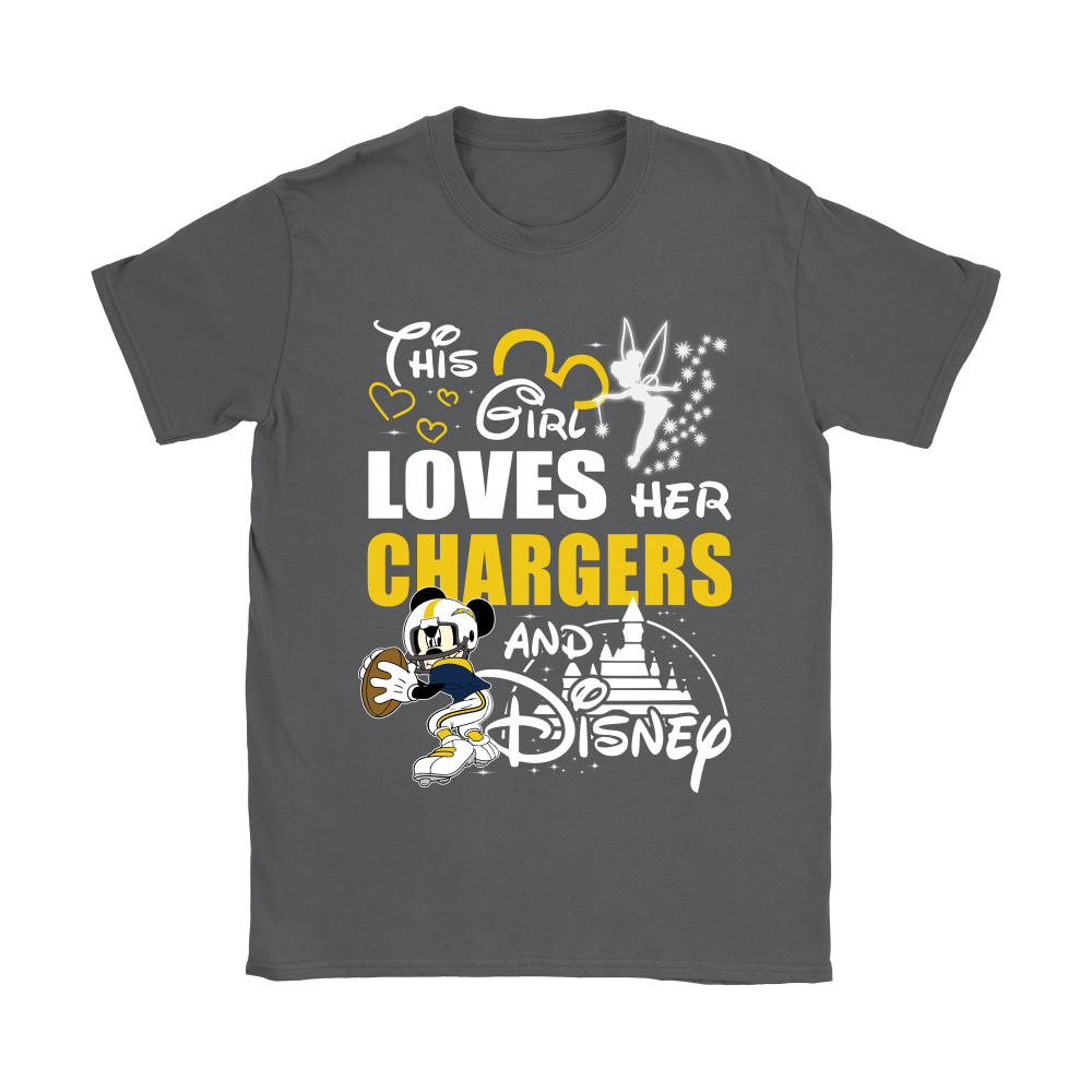 This Girl Loves Her Los Angeles Chargers And Mickey Disney Shirts 9