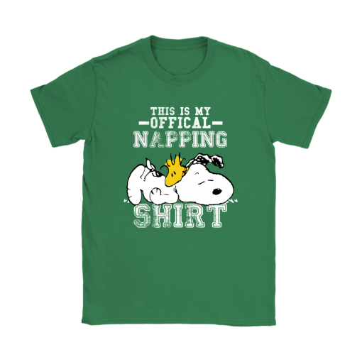 This Is My Offical Napping Shirt Woodstock And Snoopy Shirts 14