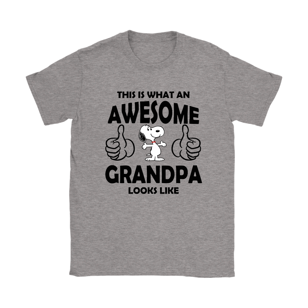 This Is What An Awesome Grandpa Looks Like Snoopy Shirts 3