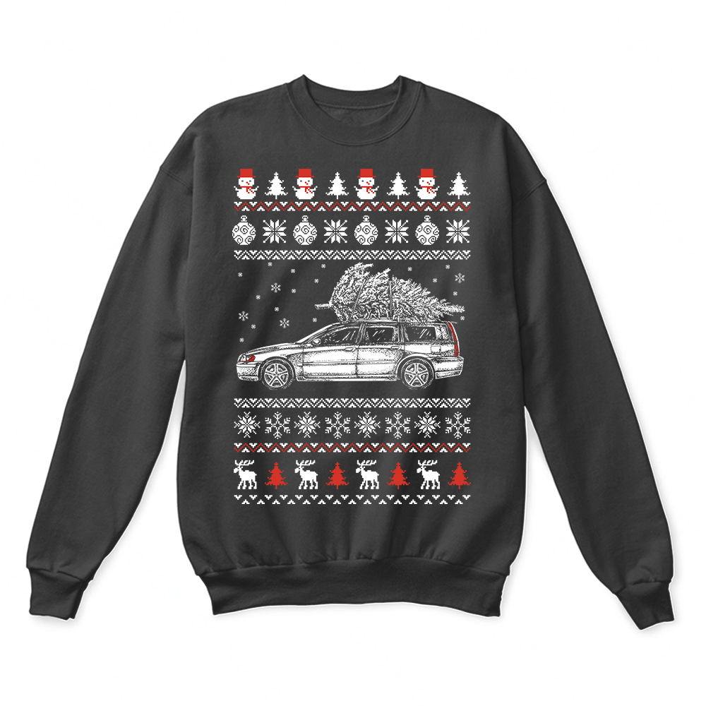 Volvo V70 Brings Christmas Home Ugly Sweater 1