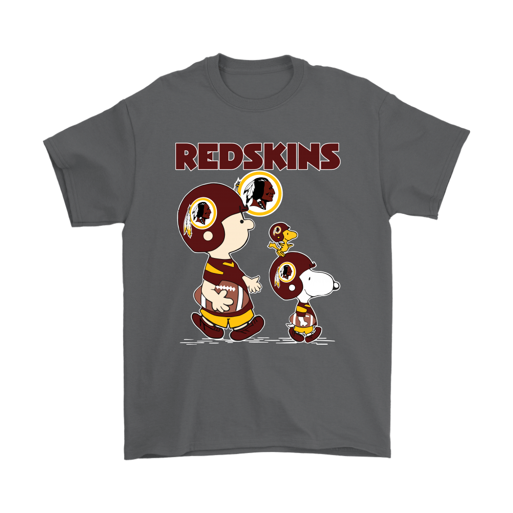 Washington Redskins Let's Play Football Together Snoopy NFL Shirts 2