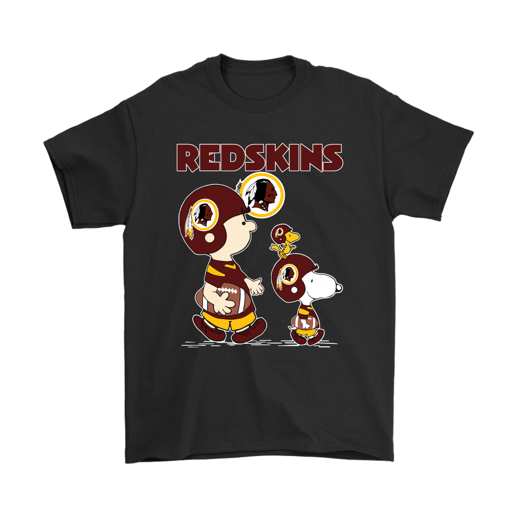 Washington Redskins Let's Play Football Together Snoopy NFL Shirts 1