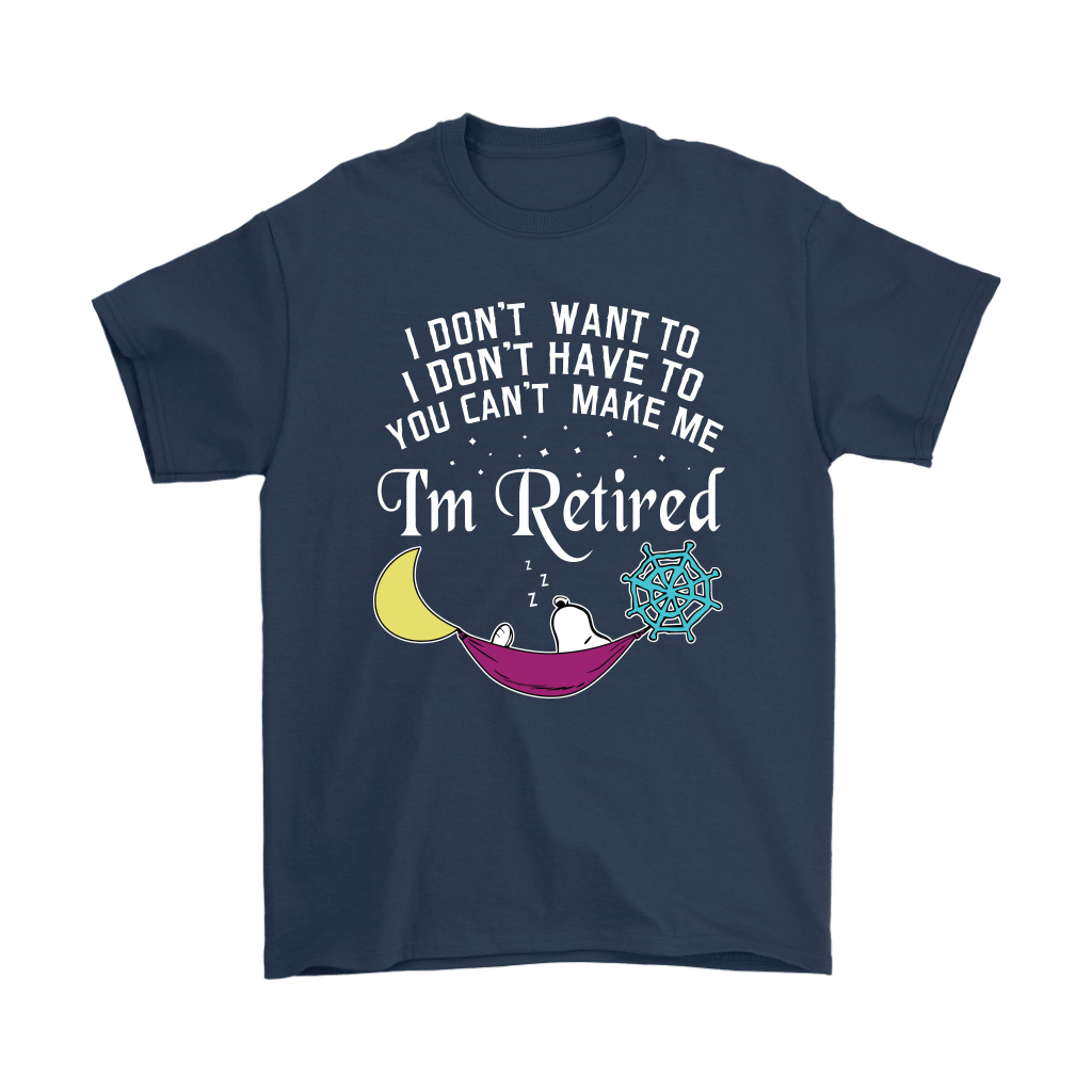 You Can't Make Me I'm Retired Let's Sleep Lazy Snoopy Shirts 3