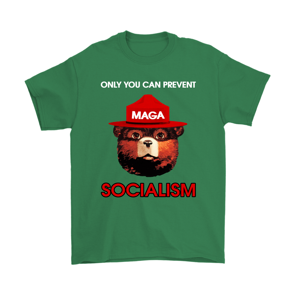 Smokey The Bear MAGA Only You Can Prevent Socialism Shirts 7