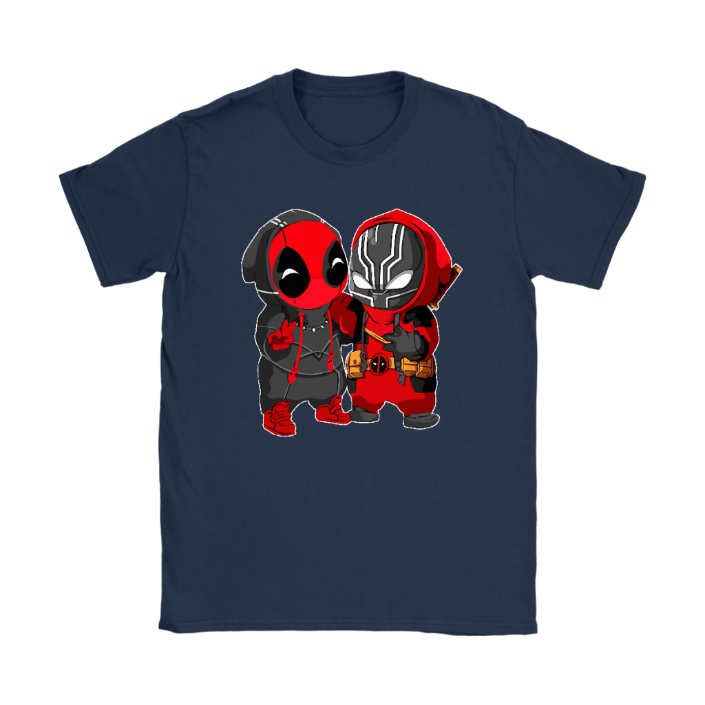 Baby Black Panther And Deadpool Costume Switch Cute Shirts 9