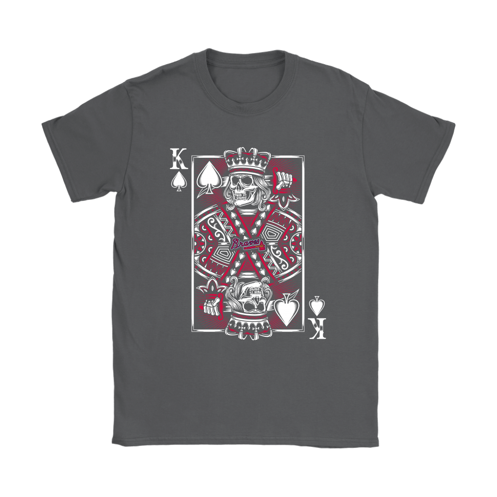 Atlanta Braves Spade King Of Death Card MLB Baseball Shirts 8