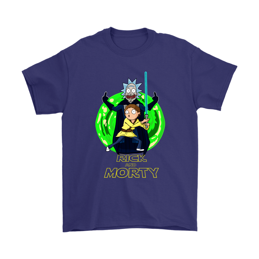 Rick And Morty Darth Vader And Luke Star Wars Mashup Shirts 4