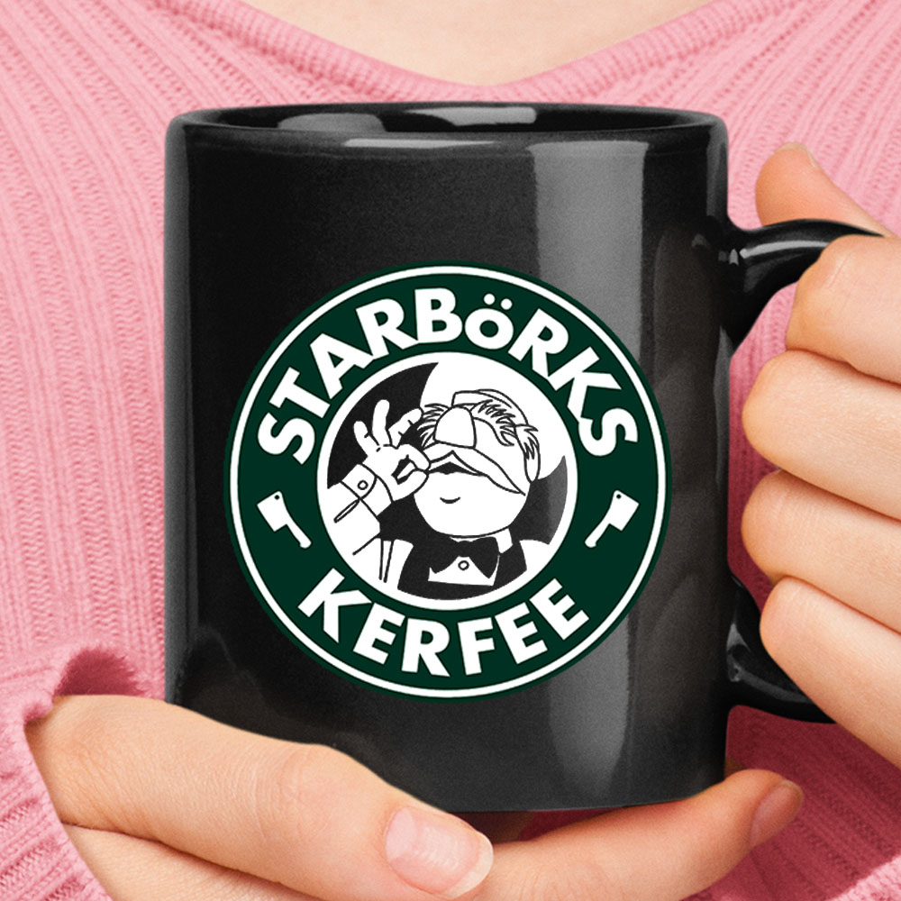 Swedish Chef StarBork Kerfee Starbucks Muppets Black Mug 1