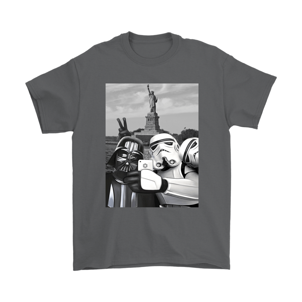 Darth Vader Storm Trooper Selfie Statue of Liberty Star Wars Shirts 2