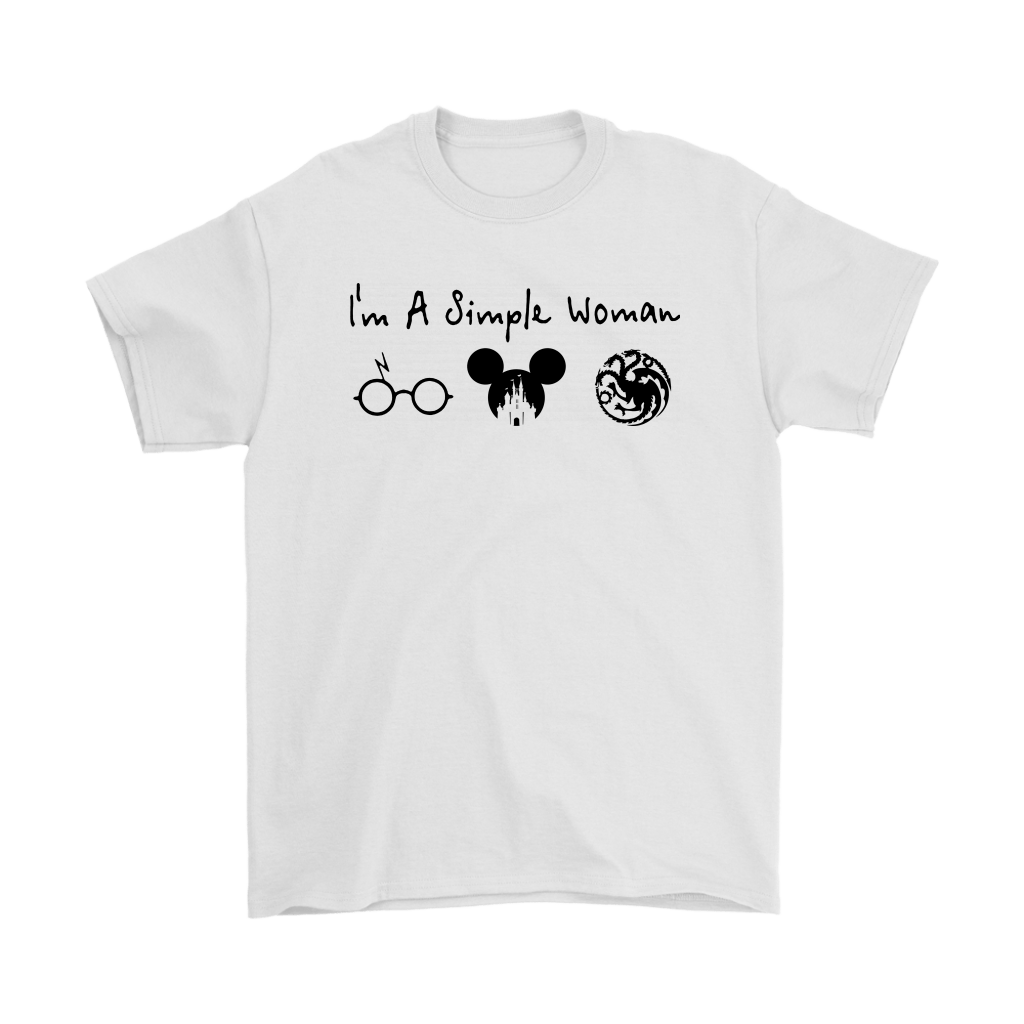 I'm A Simple Woman Loves Harry Potter Disney House Targaryen Shirts 1