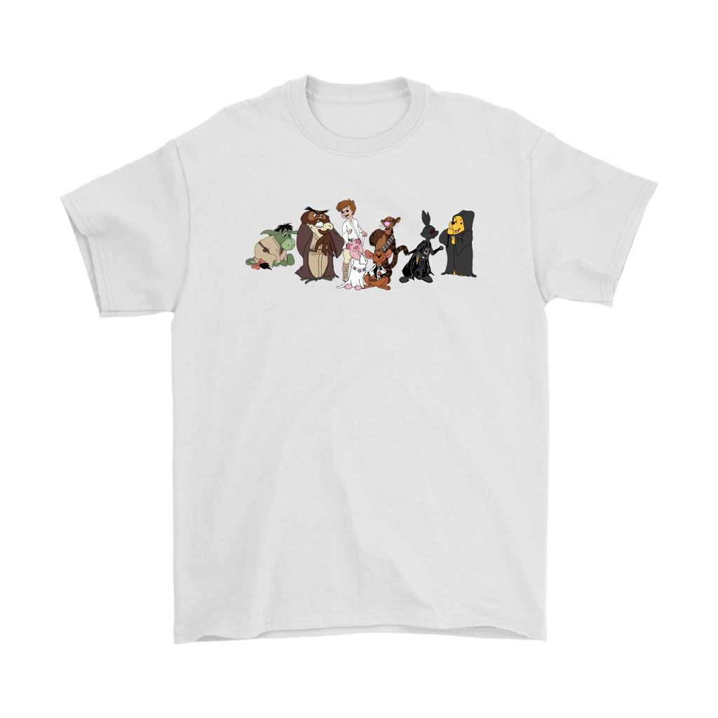 Winnie The Pooh And Friends Star Wars Disney Mashup Shirts 1