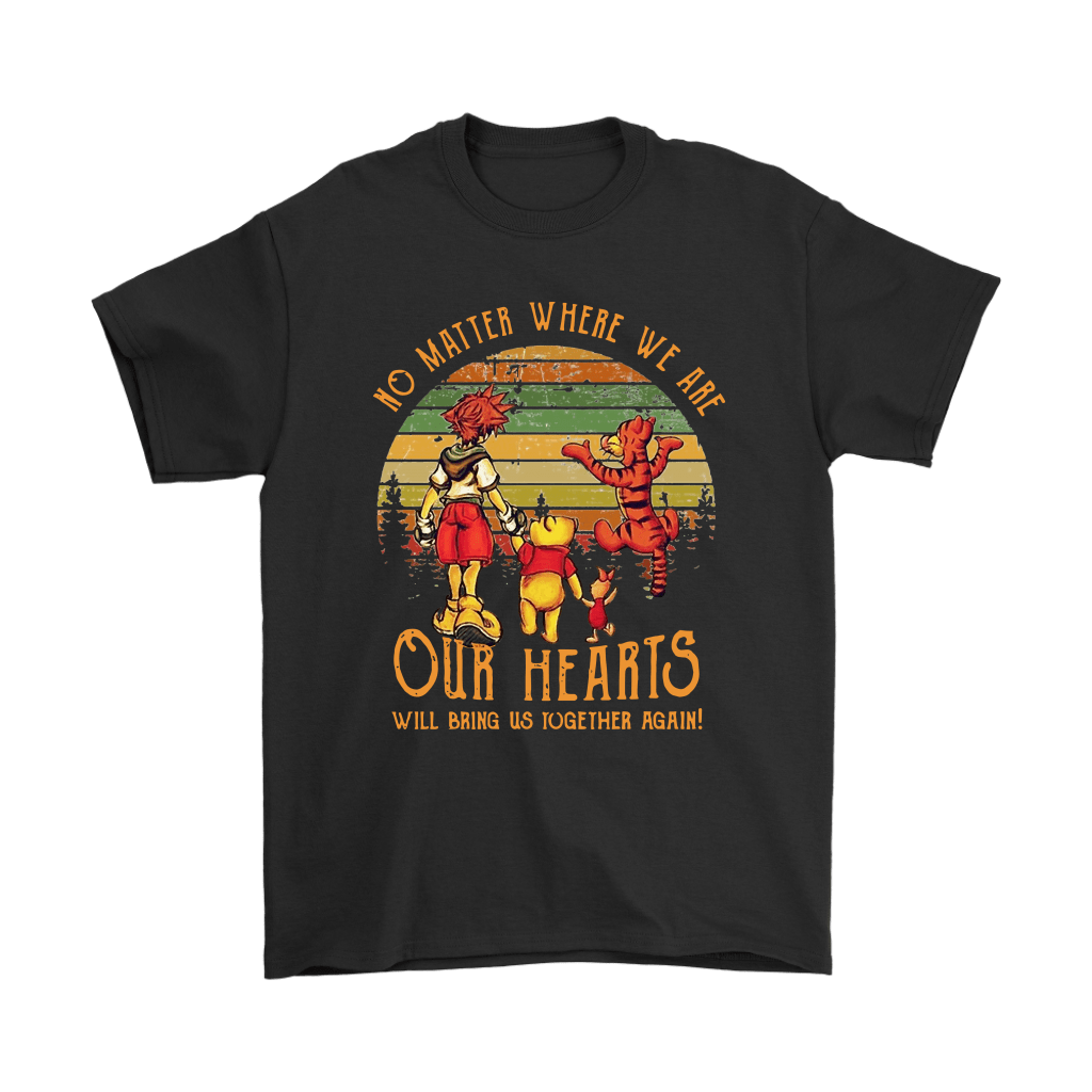 No Matter Where We Are Pooh And Friends Vintage Kingdom Heart Shirts 1