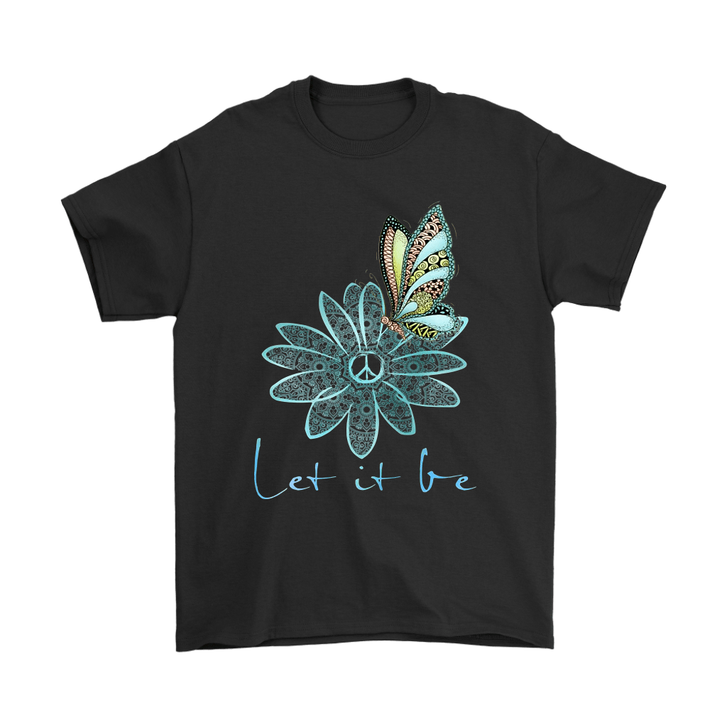 Flower And Butterfly Love And Peace Let It Be The Beatles Shirts 1