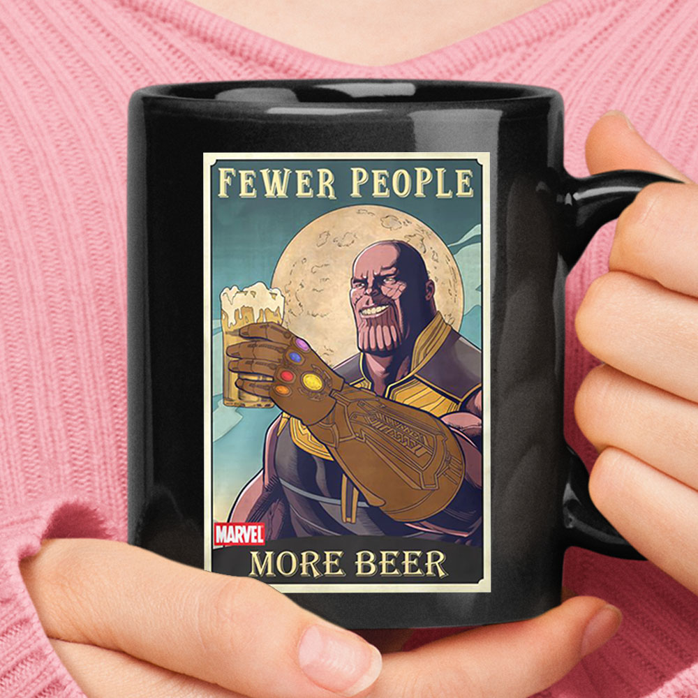 Fewer People More Beer Marvel Thanos Mug 1