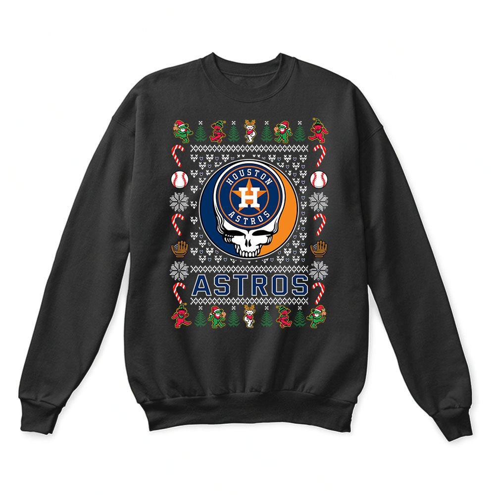 Houston Astros x Grateful Dead Christmas Ugly Sweater 1