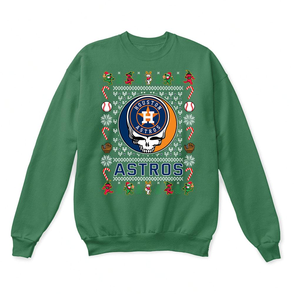 Houston Astros x Grateful Dead Christmas Ugly Sweater 2