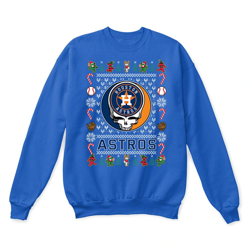 Houston Astros x Grateful Dead Christmas Ugly Sweater 6