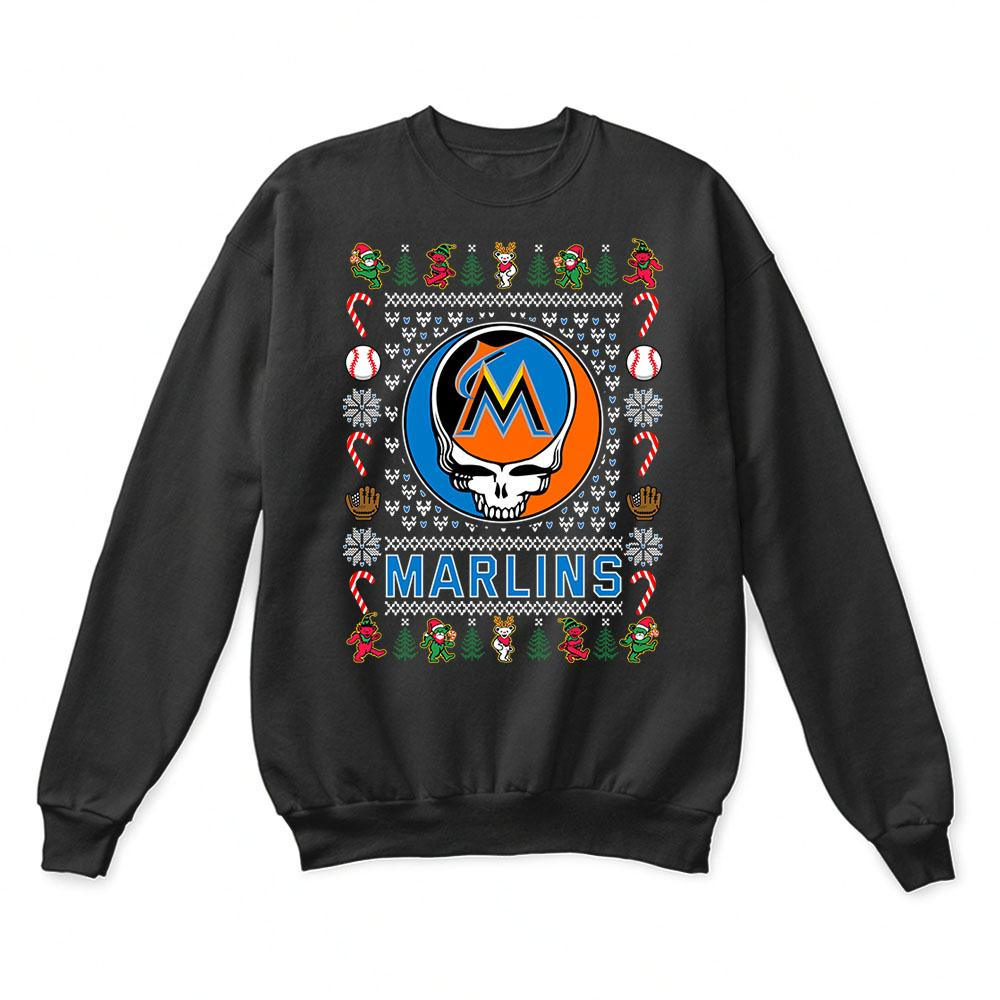 Miami Marlins x Grateful Dead Christmas Ugly Sweater 1