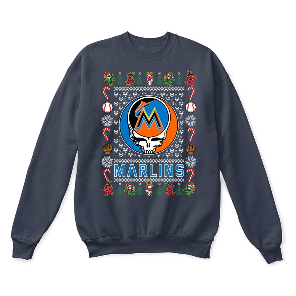 Miami Marlins x Grateful Dead Christmas Ugly Sweater 3