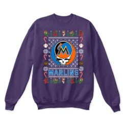 Miami Marlins x Grateful Dead Christmas Ugly Sweater 10