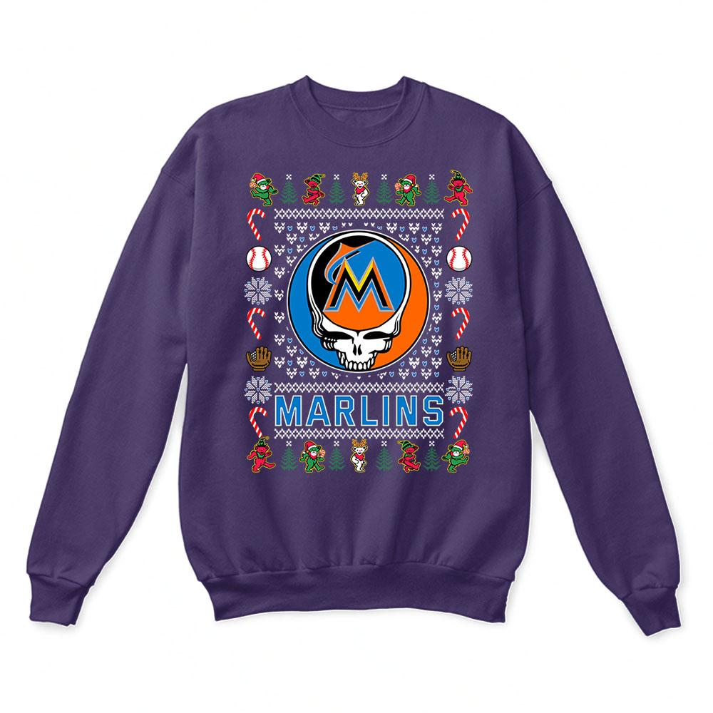 Miami Marlins x Grateful Dead Christmas Ugly Sweater 4