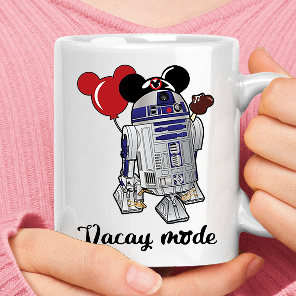 R2-D2 Vacay Mode Mickey Balloon And Ice Cream Disney Star Wars Mug 1