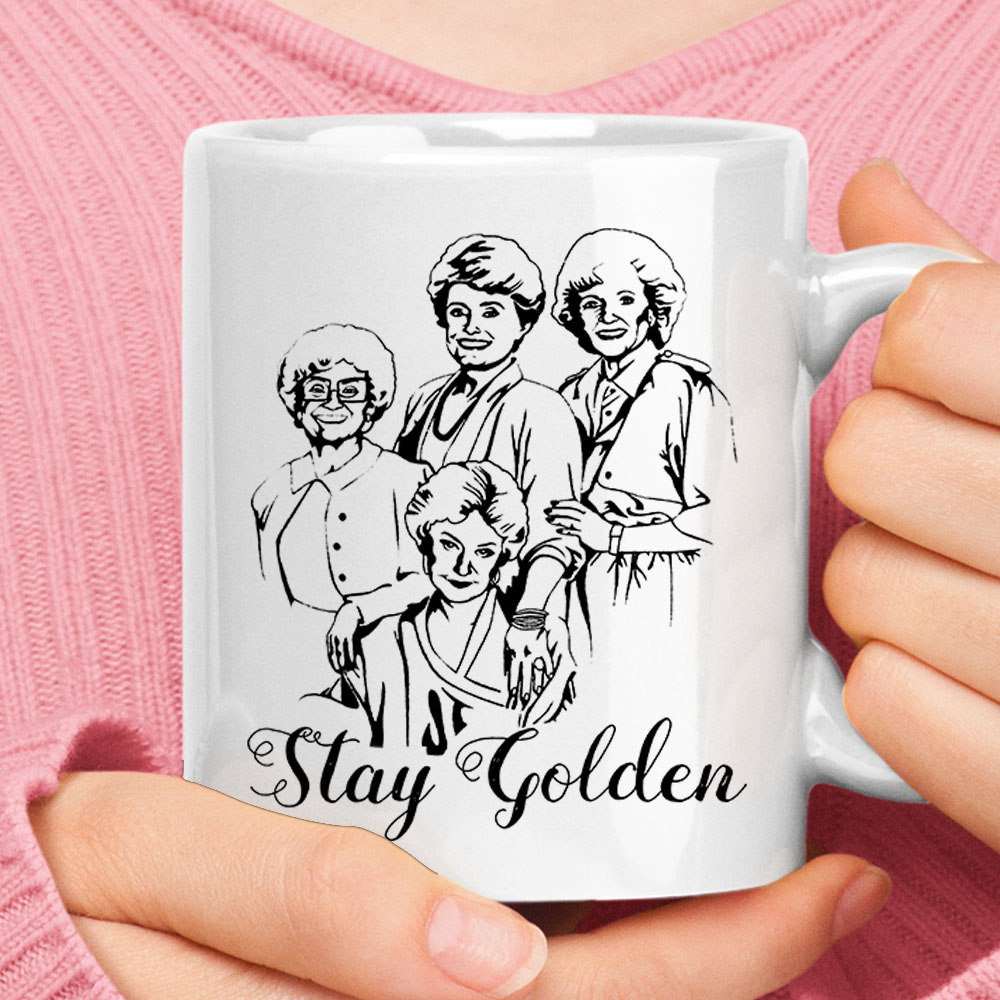 Stay Golden The Golden Girls Painting Style Mug 1