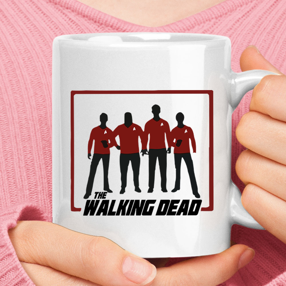 The Walking Dead Redshirt Star Trek Mashup Mug 1