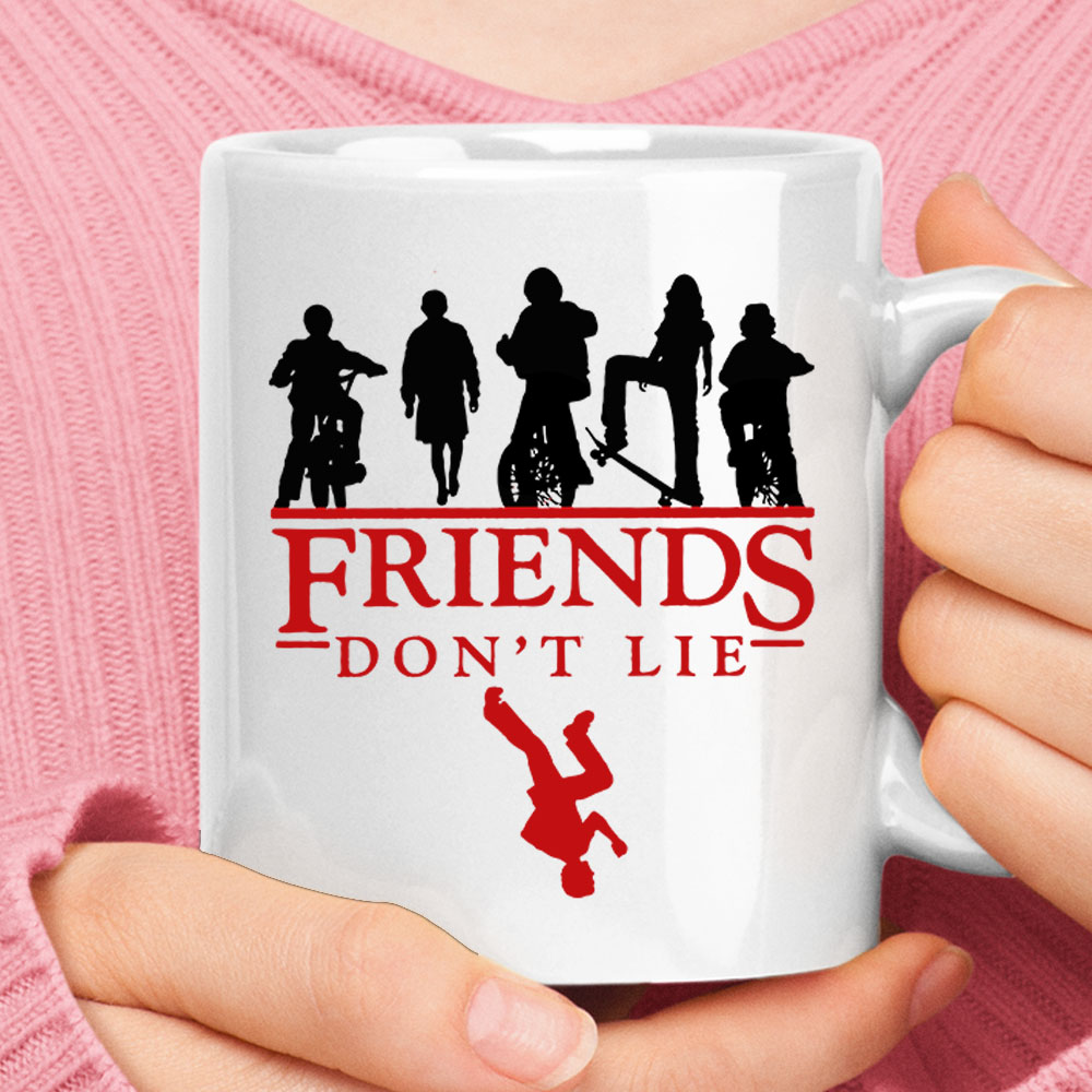 Upside Down Stranger Things Friends Don't Lie Mug 1