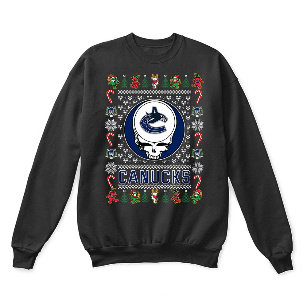 Vancouver Canucks x Grateful Dead Christmas Ugly Sweater 1