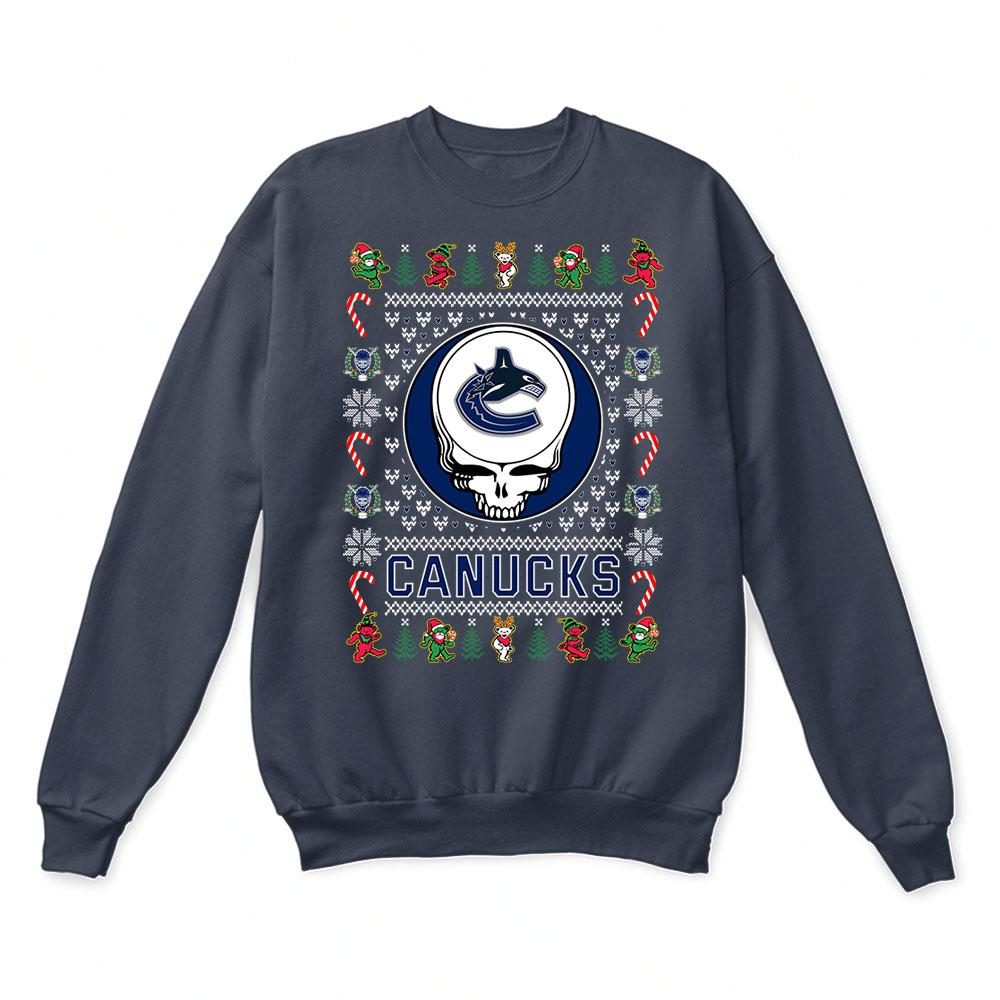Vancouver Canucks x Grateful Dead Christmas Ugly Sweater 3
