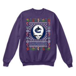 Vancouver Canucks x Grateful Dead Christmas Ugly Sweater 10