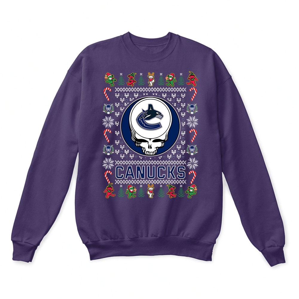 Vancouver Canucks x Grateful Dead Christmas Ugly Sweater 4