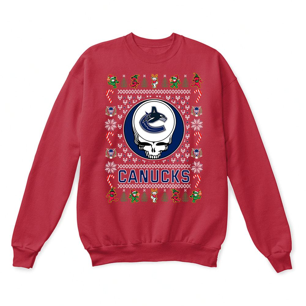 Vancouver Canucks x Grateful Dead Christmas Ugly Sweater 5