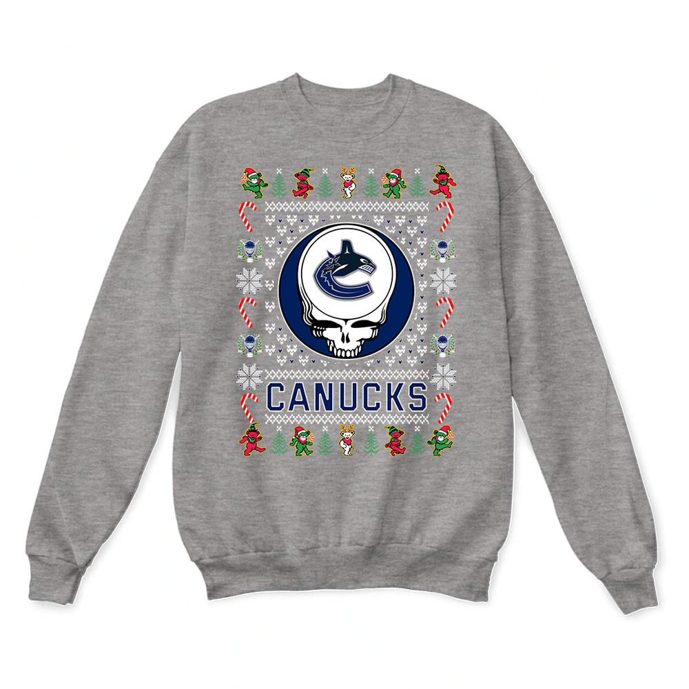 Vancouver Canucks x Grateful Dead Christmas Ugly Sweater 7